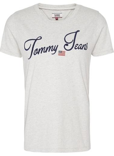 Tommy Hilfiger Kadın Tjw Vıntage Scrıpt Tee Tişört DW0DW07171 Gri